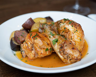 Leeds Public House roasted garlic chicken