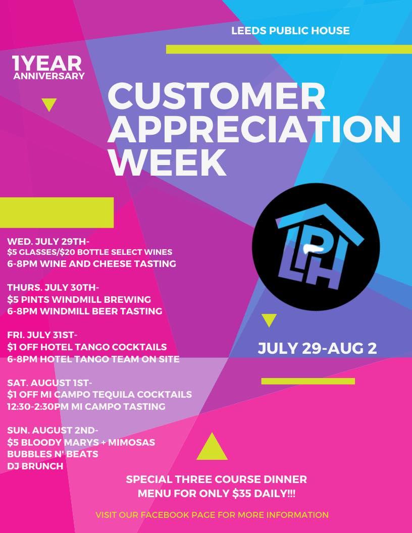 Customer Appreciation Week